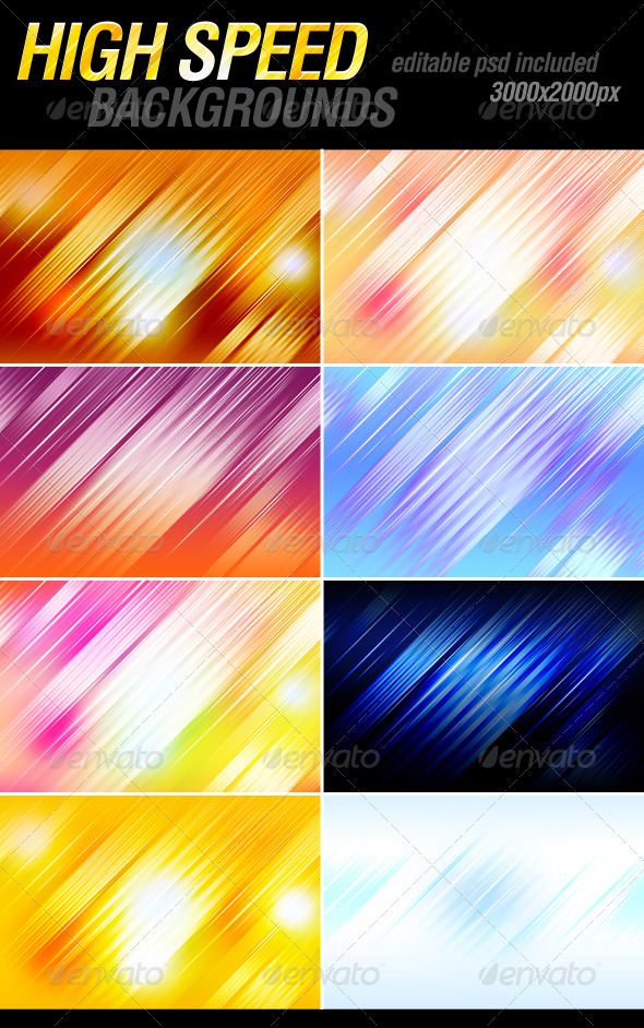 High speed backgrounds - Backgrounds Graphics