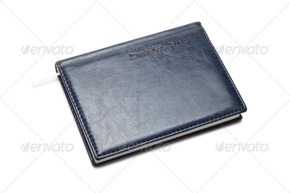 Business Diary Isolated On The White Background - Stock Photo - Images