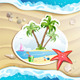 Summer Beach with Palm Trees - GraphicRiver Item for Sale