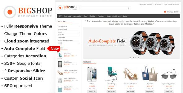Bigshop – Multi-Purpose Responsive OpenCart Theme