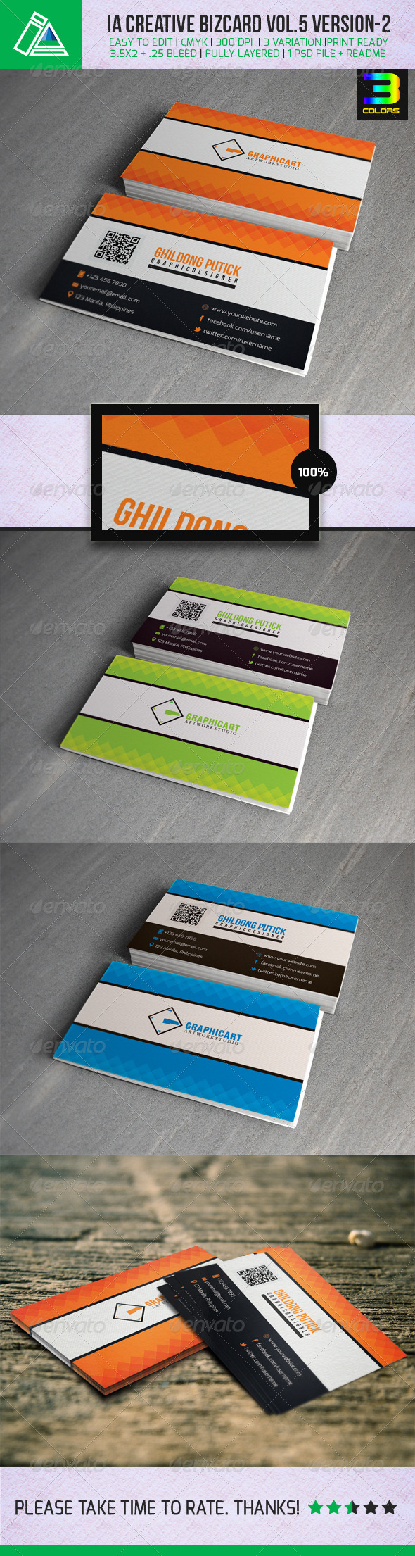 IA Business Card Vol.5 - Version 2 - Corporate Business Cards