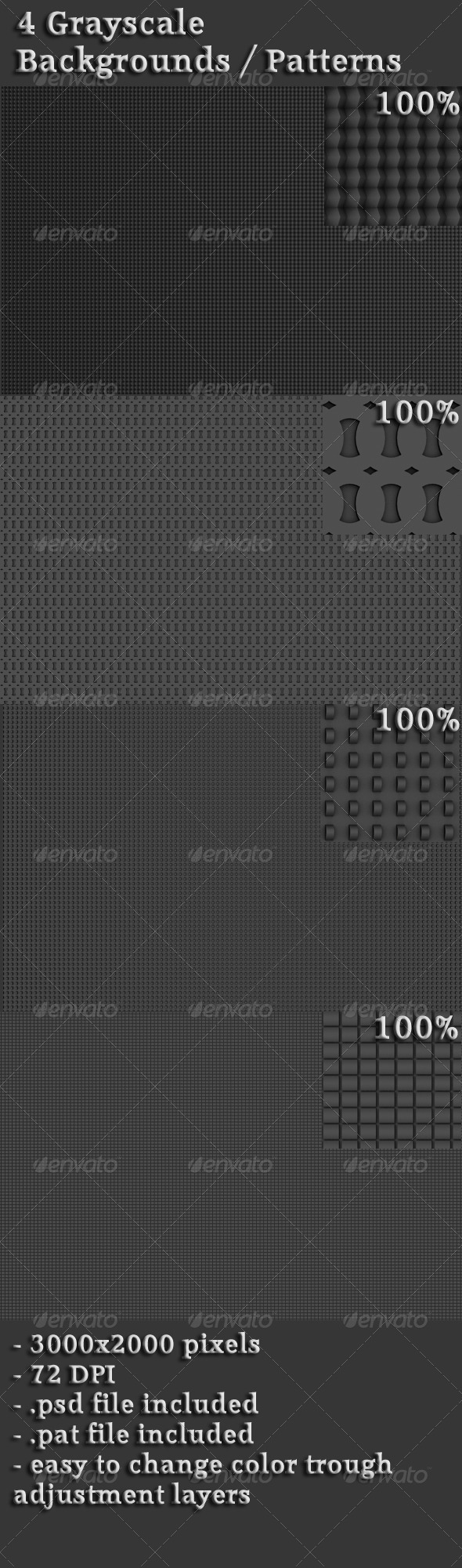 Grayscale Backgrounds / Patterns - Patterns Backgrounds