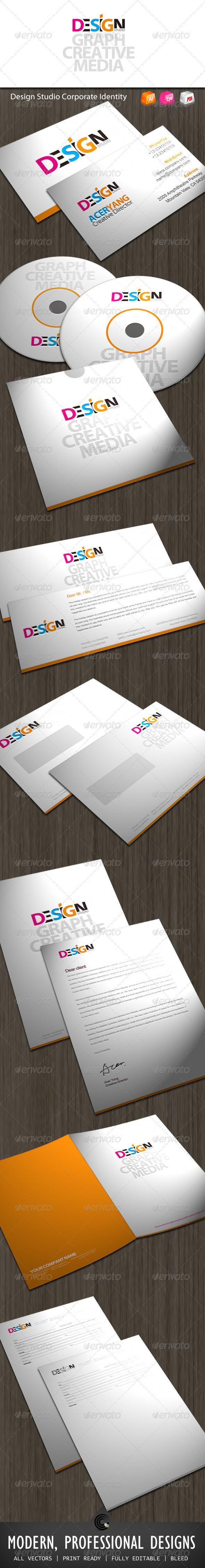 Design Studio Corporate Identity - Stationery Print Templates