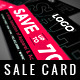 Promo Sale Card - GraphicRiver Item for Sale