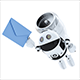 3D Robot. Mail Delivery Concept. - GraphicRiver Item for Sale