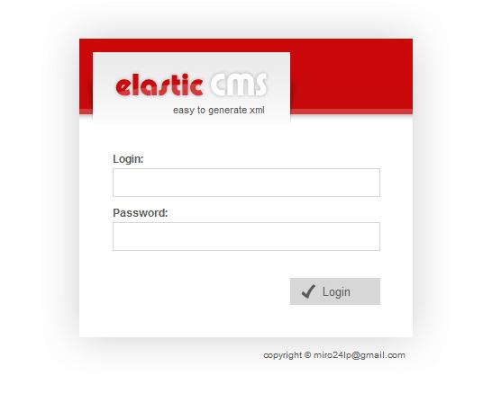 Elastic CMS - Solution for Flash Xml websites