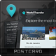 World Traveler Postcard - GraphicRiver Item for Sale