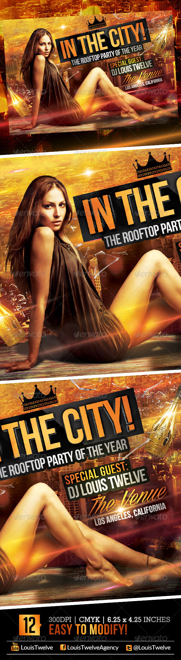 In the City - Rooftop Party | Flyer Template - Clubs & Parties Events