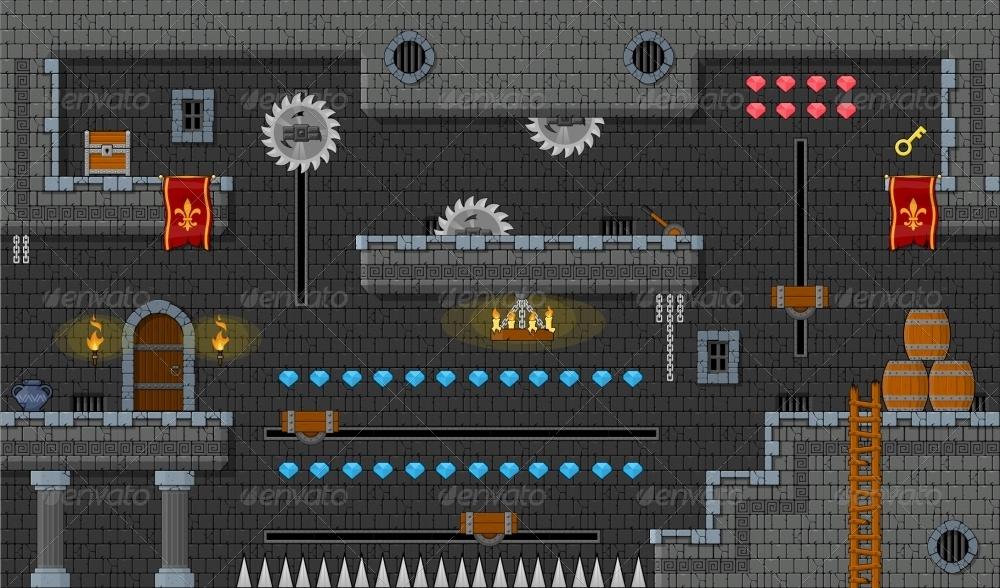 Platformer Game Tile Set 9 By Pzuh Graphicriver