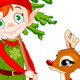 Elf and Rudolf - GraphicRiver Item for Sale