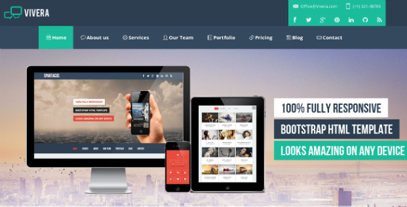 Vivera – Multi-Purpose HTML  Template