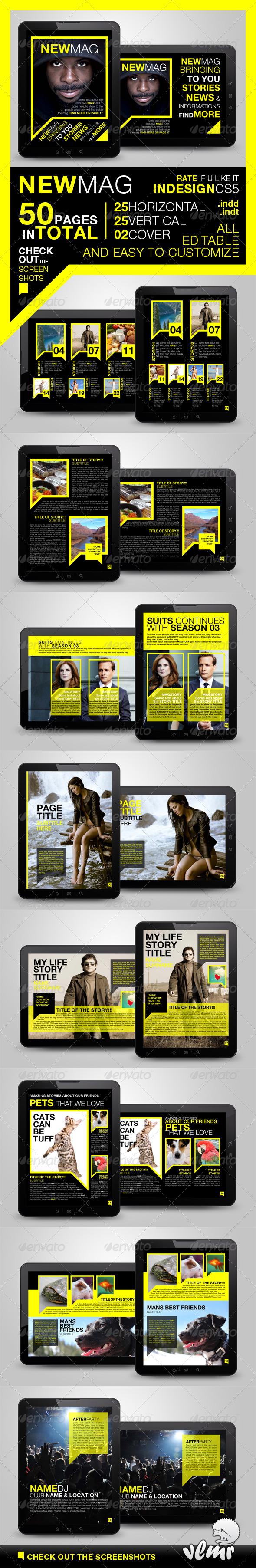 Newmag Tablet Magazine Template - Digital Magazines ePublishing