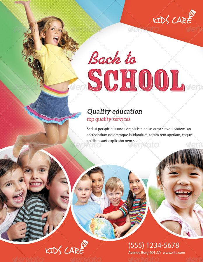 Kids / School Flyer by ingridk | GraphicRiver