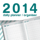 Daily Planner, Organizer and Diary 2014. - GraphicRiver Item for Sale