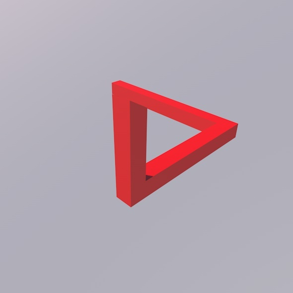 Penrose Triangle Illusion - 3DOcean Item for Sale