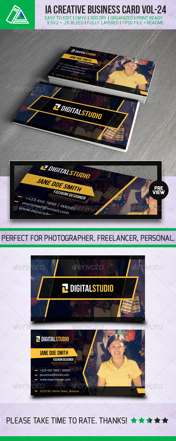 IntenseArtisan Business Card Vol.24 - Creative Business Cards