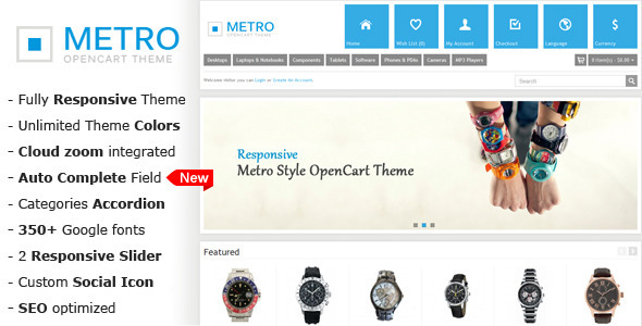 Metro – Multi-Purpose Responsive OpenCart Theme