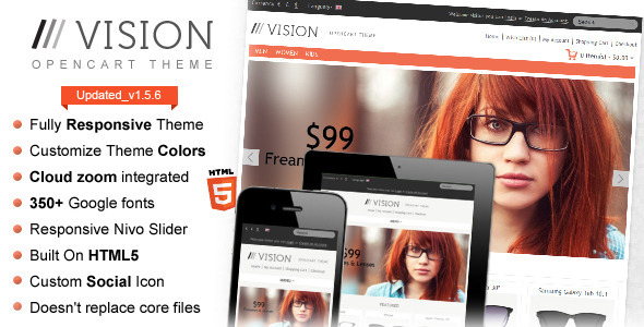 Vision – Responsive OpenCart Theme