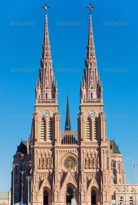 The basilica of Lujan - Stock Photo - Images