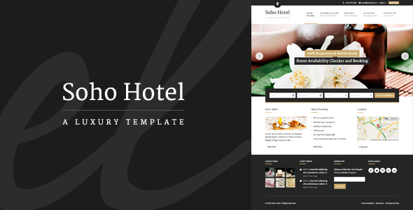 Soho Hotel – Responsive HTML Template