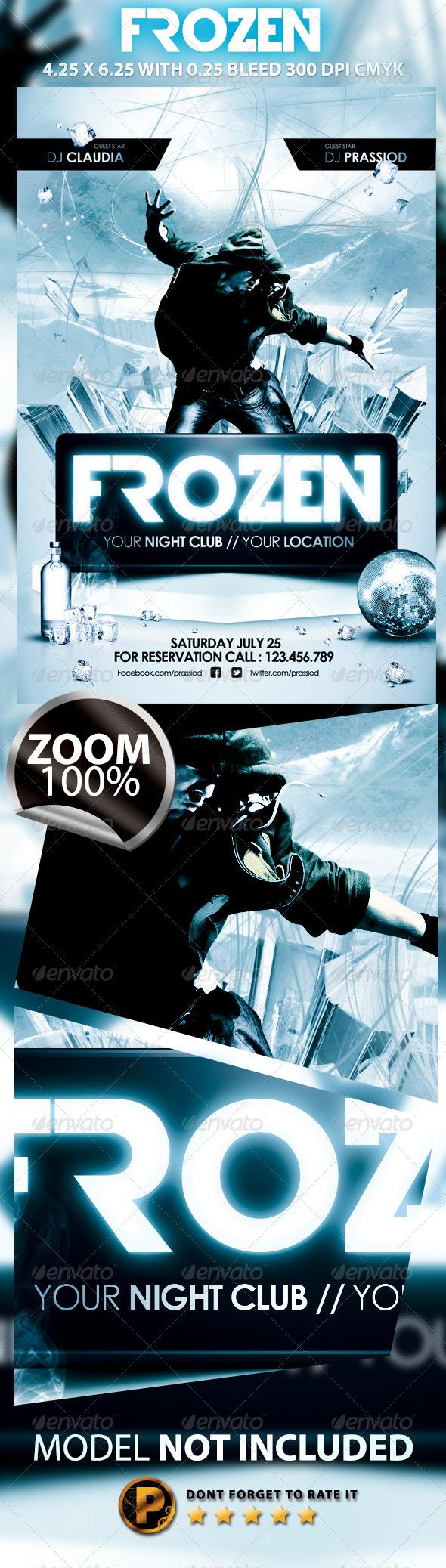 Frozen Flyer Template - Clubs & Parties Events