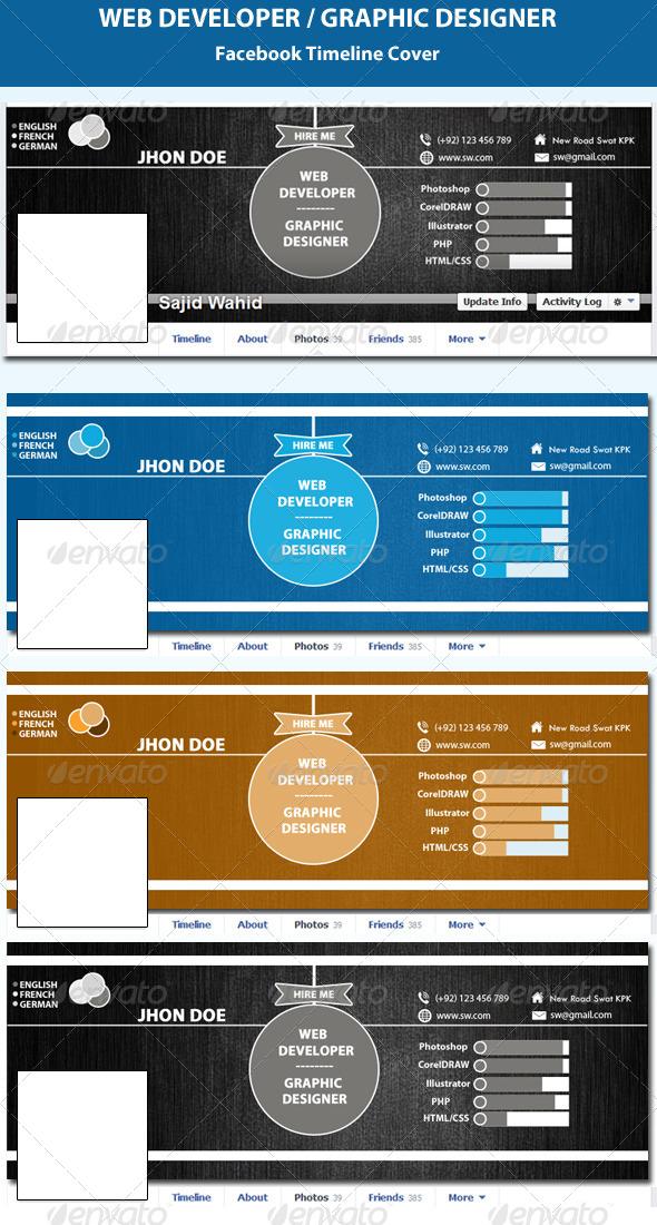 Web Developer & Graphic Designer FB Timeline Cover - Facebook Timeline Covers Social Media