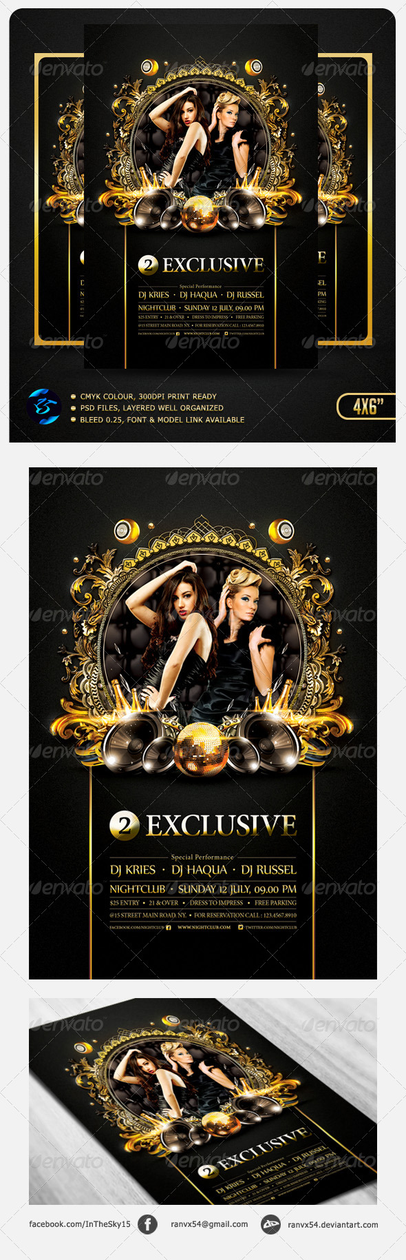 Two Exclusive Flyer Template - Flyers Print Templates