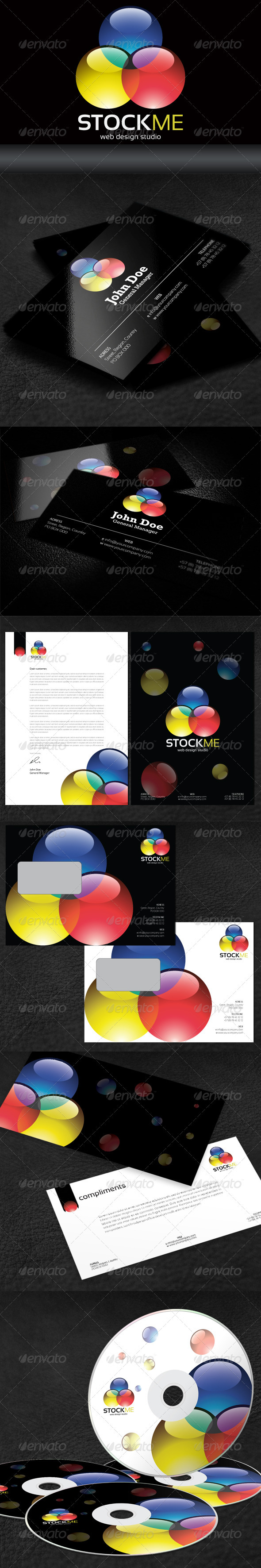 Stock Me Web Design Studio Corporate Identity - Stationery Print Templates