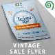 Vintage Sale / Promotion Flyer Template - GraphicRiver Item for Sale