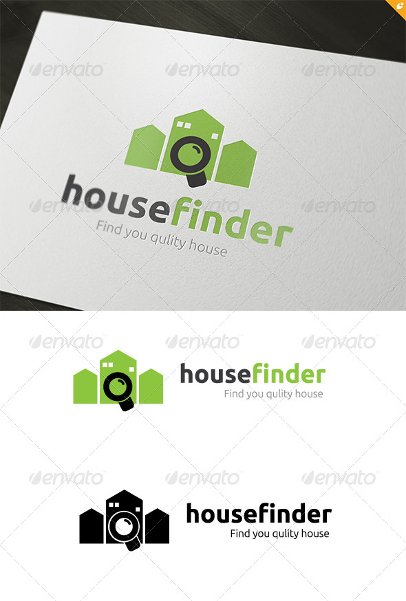Great House Finder Company   Buildings Logo Templates