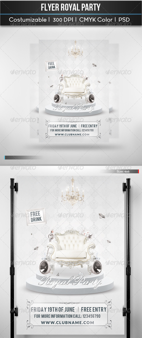Flyer Royal Party - Clubs & Parties Events