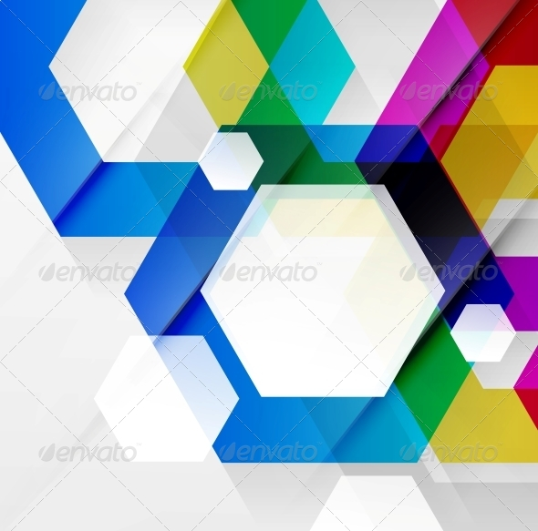 Rainbow hexagons modern design template by antishock graphicriver rainbow hexagons modern design template decorative symbols decorative toneelgroepblik Image collections
