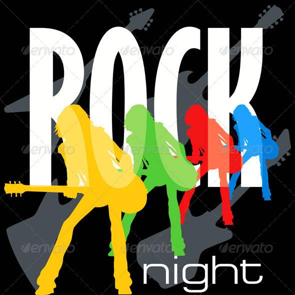 Rock Night Poster Template - Media Technology