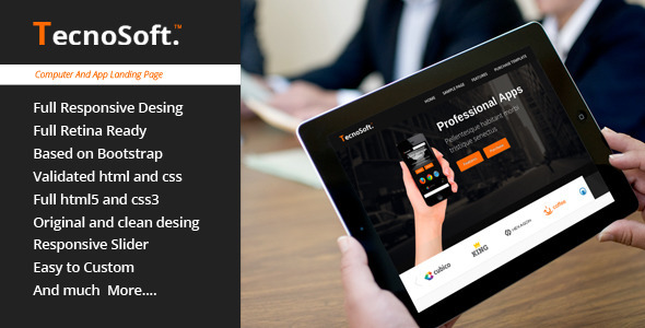 TecnoSoft – Computer/Apps Landing Page Theme