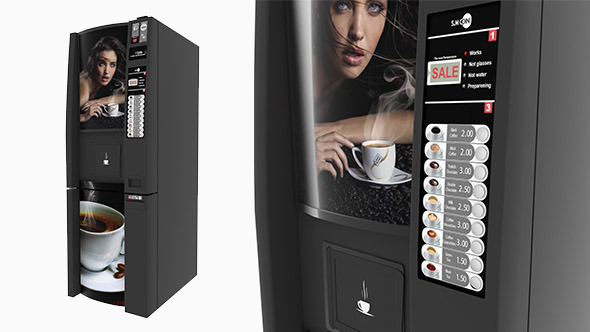 Coffee Vending Machine - 3DOcean Item for Sale