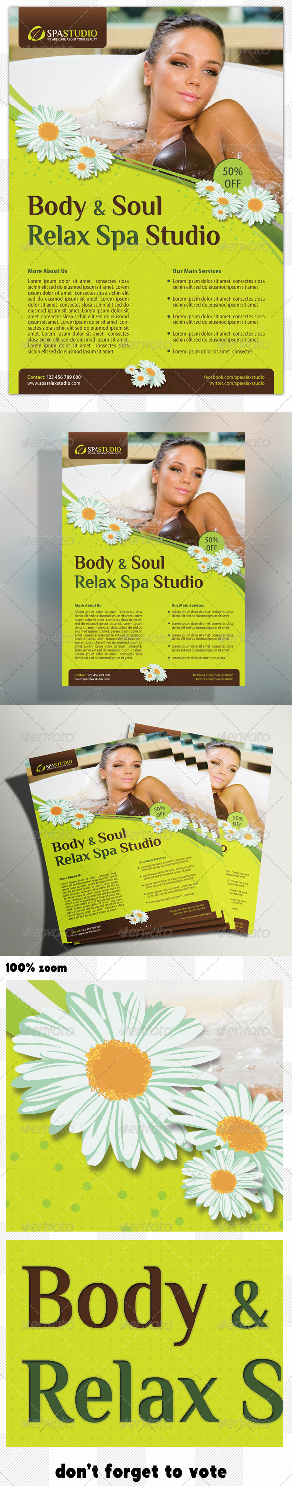 Spa Studio Flyer 07 - Holidays Events