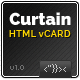CURTAIN - Minimal vCard HTML5 Template - ThemeForest Item for Sale