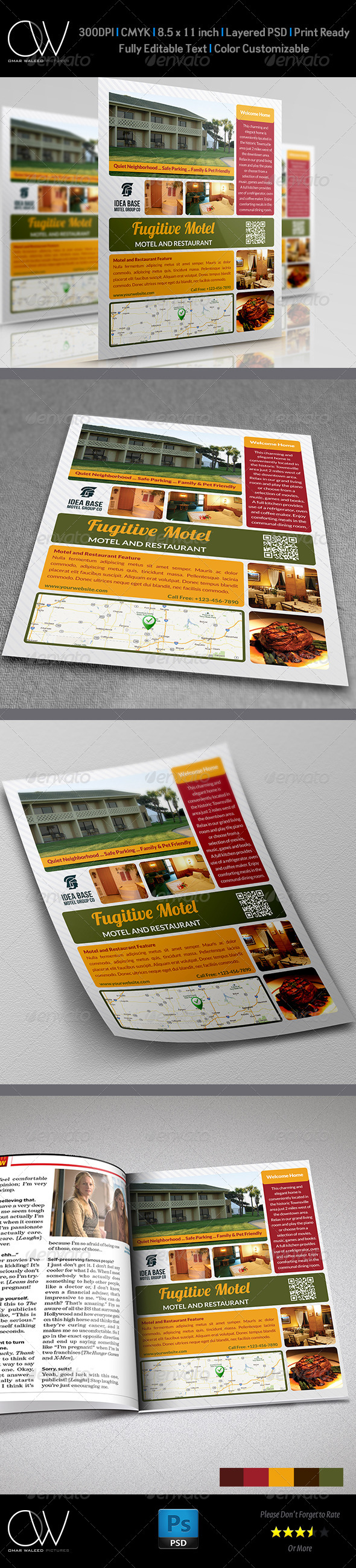 Motel and Restaurant Flyer