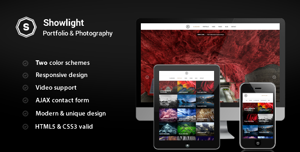 Showlight – Portfolio & Photography Template