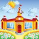 Vector Cartoon School Building - GraphicRiver Item for Sale
