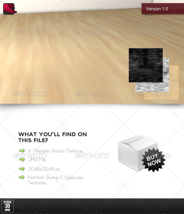 Tileable Wood Texture No. 1 - 3DOcean Item for Sale