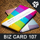 Business Card Design 107 - GraphicRiver Item for Sale