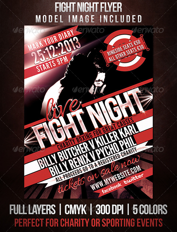 Fight Night Sports Flyer by dubsbhoy | GraphicRiver