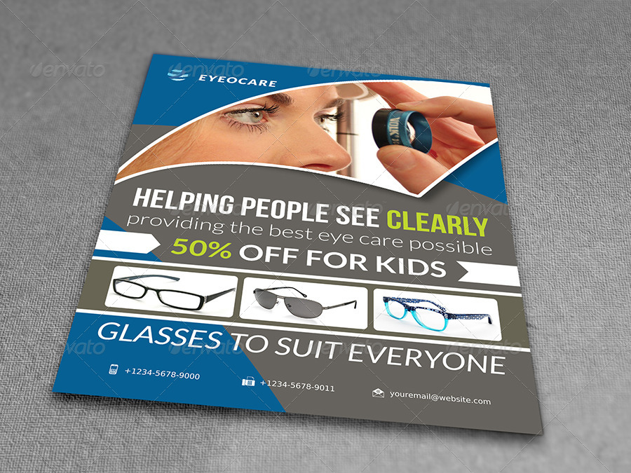 Optometrist & Optician Flyer by OWPictures | GraphicRiver