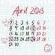 Calendar 2013 April in Sketch Style - GraphicRiver Item for Sale