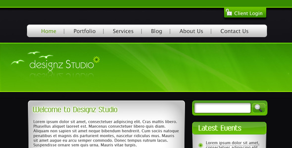 Green & Dark Business Template - Business Corporate
