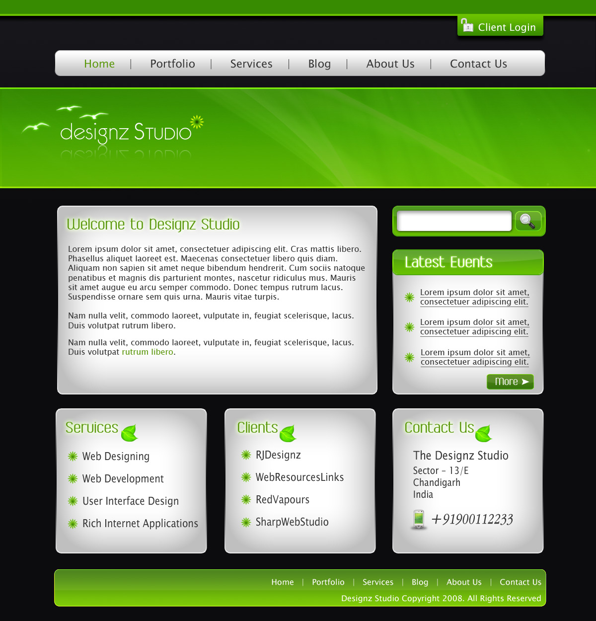 Free Download Green & Dark Business Template Nulled Latest Version