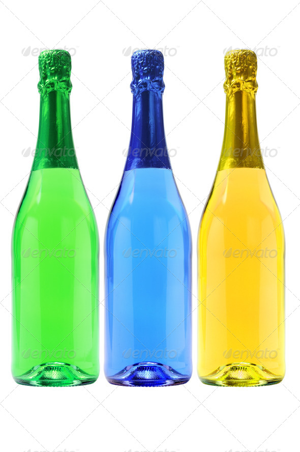 Three Bottles Of Carbonated Drinks - Stock Photo - Images