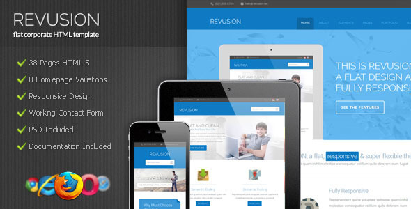 Revusion – Flat Corporate HTML Template