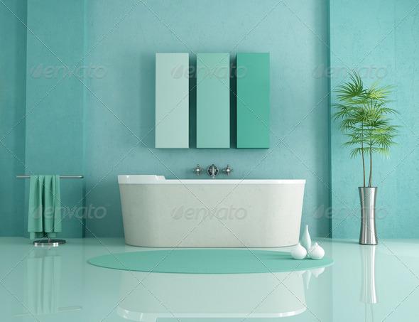 minimalist bathroom - Stock Photo - Images